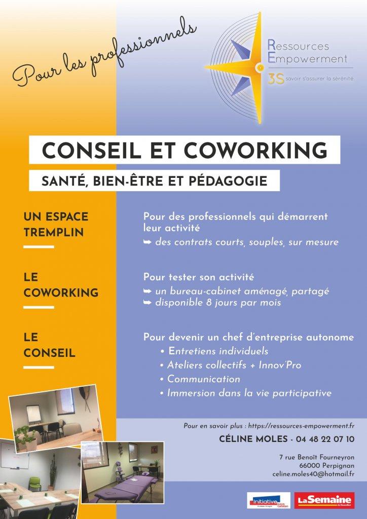 Flyer RE3S Conseil et Coworking